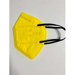 Mascarilla FFP2 M1 Color Amarillo (caja 10uds)