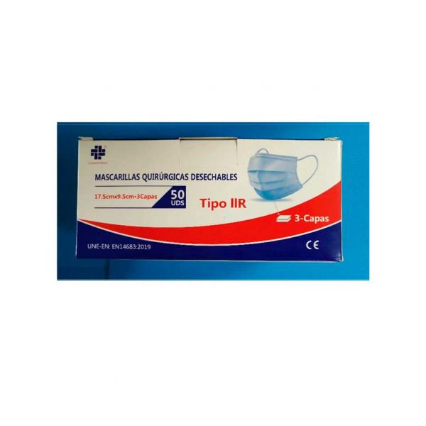 Mascarilla Quirúrgica 3 capas tipo IIR (caja 50uds)