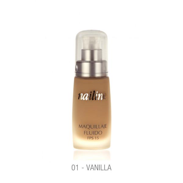 Nailine Maquillaje Fluido Larga Duración 16h, 30ml