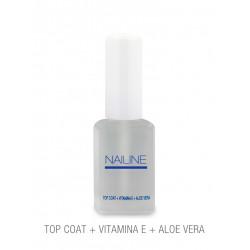 Nailine Tratamiento de Uñas Top Coat (Vitamina E + Aloe Vera) 11ml