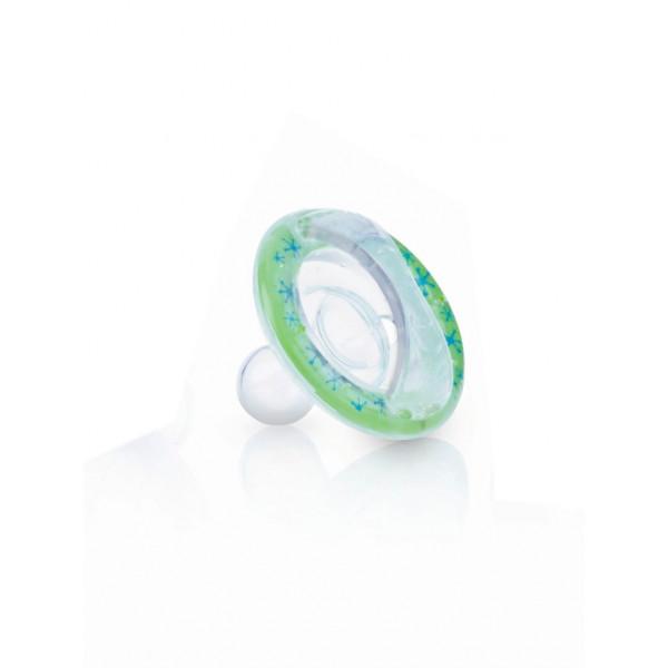 Nûby Softflex Chupete con Tetina Oscilante Cherry de Silicona (6m+) Verde